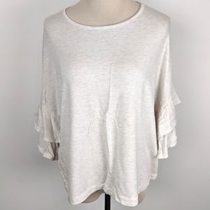 Loft Outlet Lounge relaxed T-shirt Ruffled Sleeves